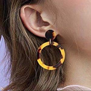 Tortoise Resin Earrings